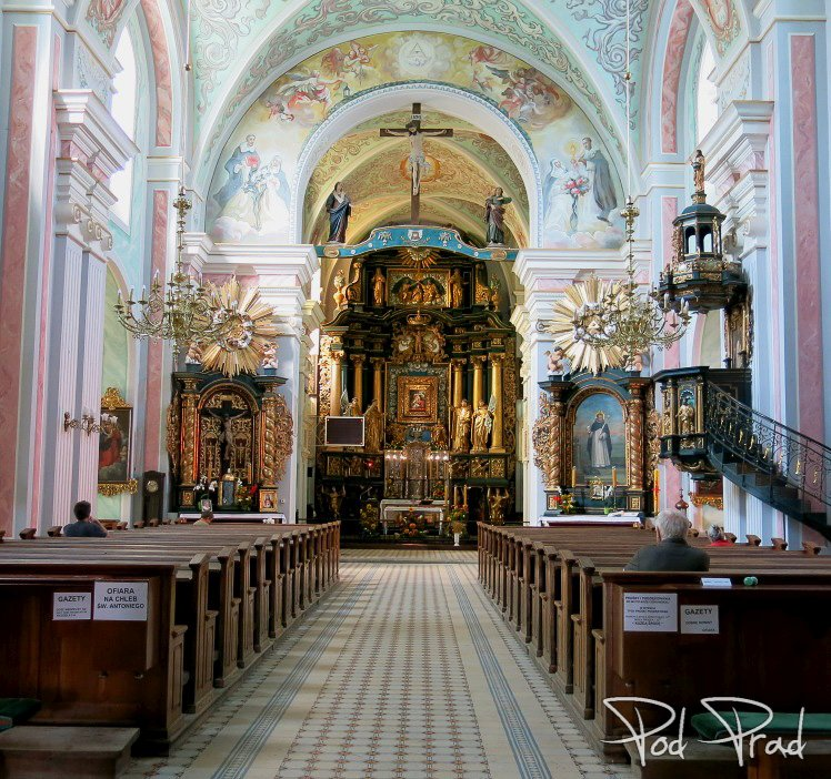 Wnętrze parafii pw. Wniebowzięcia Najświętszej Maryi Panny w Tarnobrzegu